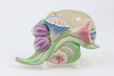 Clarice Cliff Art Deco Wall Pocket Flower Shaped Lilys Newport Pottery