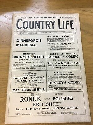 Vintage Country Life Magazine July 31St 1915