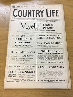 Vintage Country Life Magazine December 11Th 1915