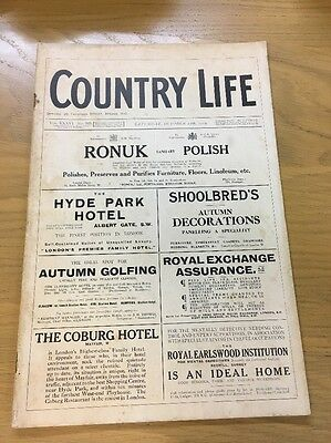 Vintage Country Life Magazine October 17Th 1914