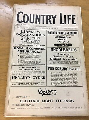 Vintage Country Life Magazine April 18Th 1914