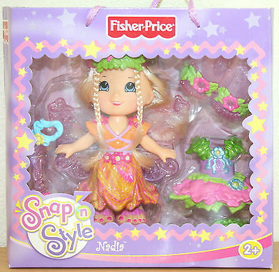 2007 Rare Nadia Outfits doll set SNAP 'N STYLE GIFT SET Fisher Price NEW