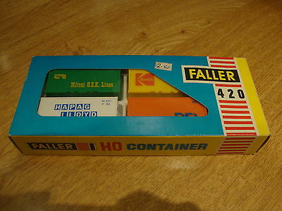 L50 Faller Model Kit 420 - H0 Gauge Set of 4 Containers Boxed