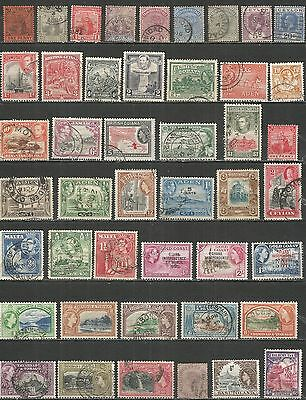 British Colonies nice collections  old used stamps