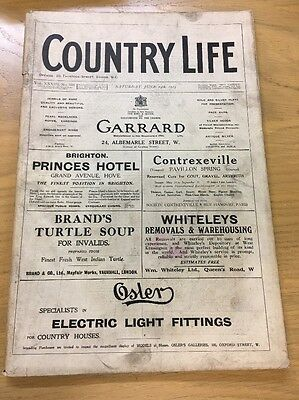Vintage Country Life Magazine June 14Th 1913