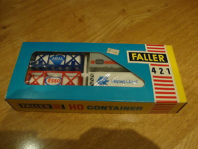 L50 Faller Model Kit 421 - H0 Gauge Set of 4 Containers Boxed