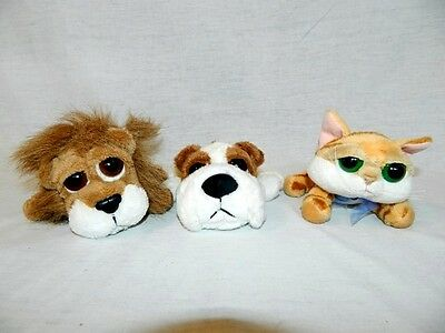 "Lot 3 RUSS sm 5"" Lil Peepers LION Carnie Tabby Cat Chilie Bull Dog Brimble plush"