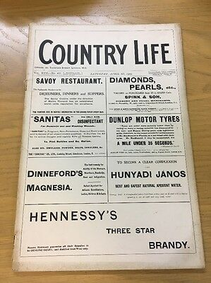 Vintage Country Life Magazine April 8Th 1905