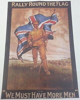 World War I Recruitment Double Sided Poster Rally Round / An Appeal to You