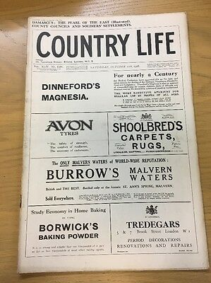 Vintage Country Life Magazine October 12Th 1918