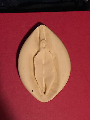 Large Vagina Hand crafted Erotic Nude Female Fertility Charm 5.25 x 3 inches