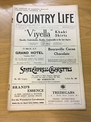 Vintage Country Life Magazine October 5Th 1918