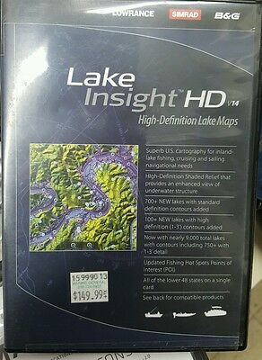 lowrance lake insight HD v14 map chip