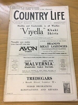 Vintage Country Life Magazine January 5Th 1918