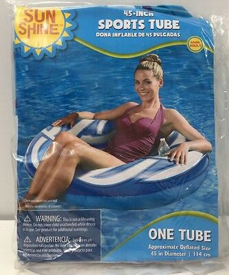 SunShine 45 Inch Water Sports Inflatable Tube - Blue