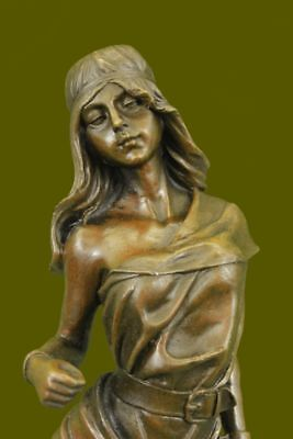Female Native American Indian Warrior bronze Sculpture  Decor Figurine Figure