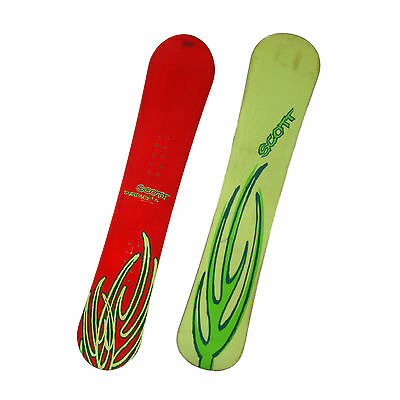 Scott Surface LS One Fifty Two Snowboard Winter Snow - Red/Yellow