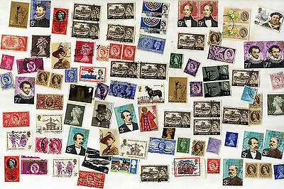 Collection of QE2 and George V, VI Used Stamps,  Many pre-decimal