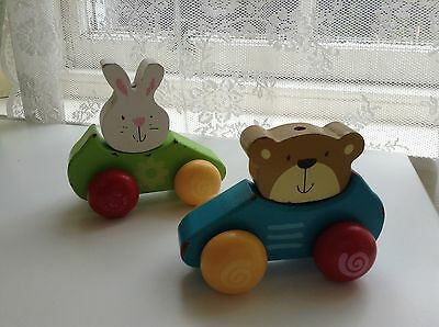 2 Wooden Baby Toys - Push Along