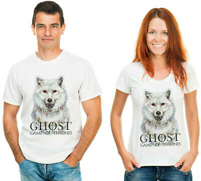 Ghost  Direwolf  Game of Thrones Winter is coming Men's Unisex T-shirt by Takila