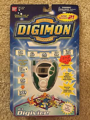 NEW Bandai Digimon Digital Monsters Green White D-3 Digivice 2000 13370
