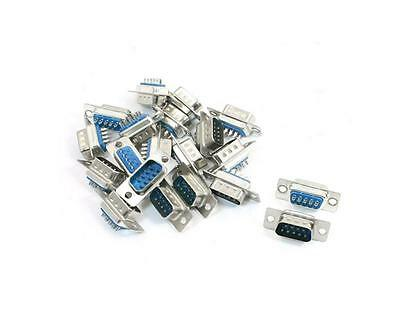 10 Pcs D-SUB 9 Pin DB9 Male Solder Type Socket Connector JX