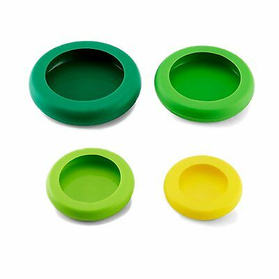 Generic Food Huggers Reusable Silicone Food Savers Fresh Green Set of 4 NEW