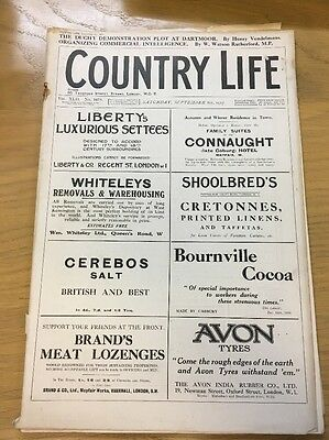 Vintage Country Life Magazine September 8Th 1917