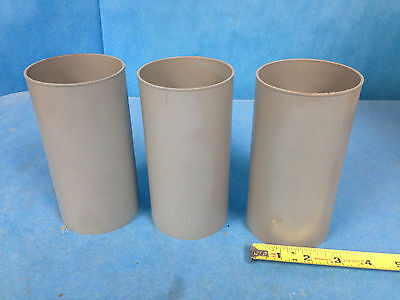 """M.A. Industries Inc. Plastic Cylinder Mold 3"""" Diameter, 6"""" Height Lot of 3"""