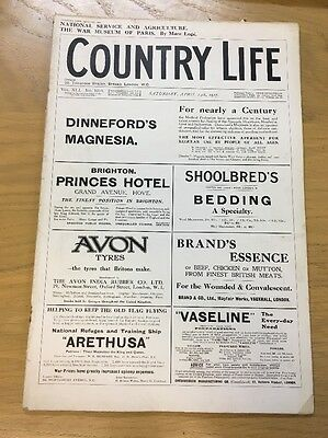 Vintage Country Life Magazine April 14Th 1917