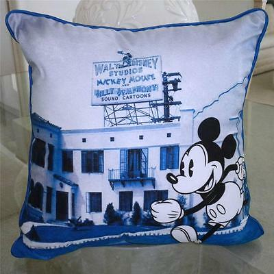 "New RARE *MICKEY MOUSE* Walt Disney Studios Cartoons PILLOW 16""x16"" HOME DECOR"