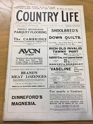 Vintage Country Life Magazine February 17Th 1917