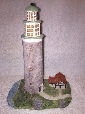 NICE Collectible Statue LIGHTHOUSE BY SEA Nautical Design Home Decor BEACH HOUSE