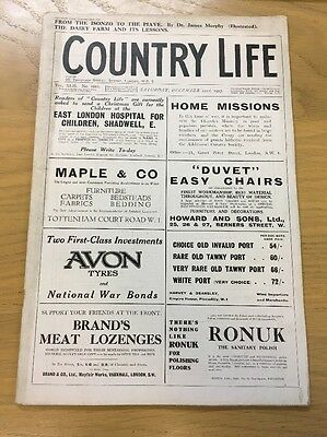 Vintage Country Life Magazine December 22Nd 1917