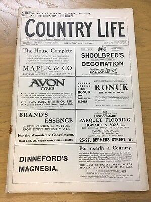 Vintage Country Life Magazine July 7Th 1917
