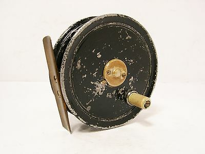 "Vintage Antique Alloy JW Young Pattern 8 - 3 ¼"" Fly Fishing Reel"