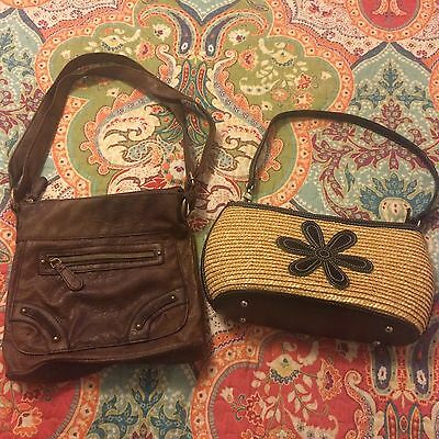 Women's Used Condition Small Purses Lot Of 2: Browns