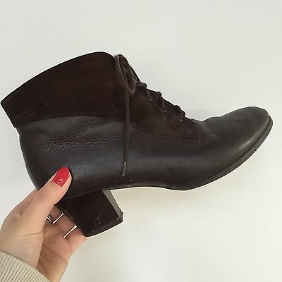 Vintage Leather & Suede Pixie Boots