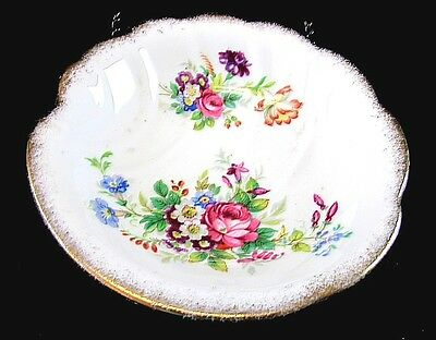 Vintage Roslyn Minuet Pattern Small Floral Plate Saucer Fine Bone China