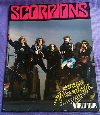 Vintage SCORPIONS Tour Programme Savage Amusement Tour
