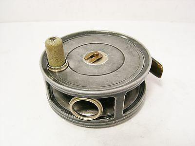"Vintage Antique Alloy Ogden Smith London 3 ⅜"" Salmon Fly Fishing Reel"