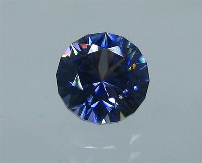 Faceted Benitoite, Rare Round Cut, 1.27 carats, VVS, G.I.A. Certified, #bf127