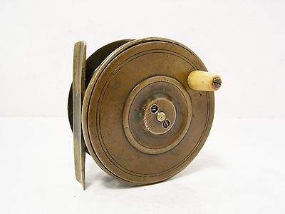 "Vintage Antique Brass 3"" Trout Fly Fishing Reel"