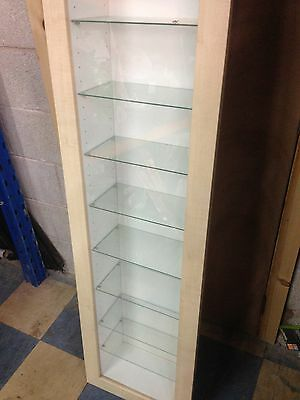 2 Wooden Glass Display Units