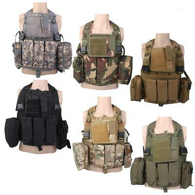 Tactical Airsoft Molle Paintball SWAT Police Combat Assault Plate Carrier Vest