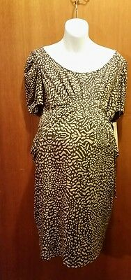 Women's maternity dress size large by motherhood new with tags, short sleeves
