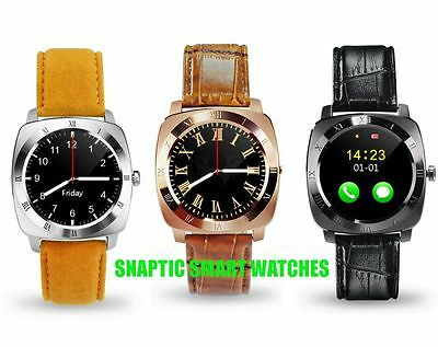 2016 New Bluetooth Smart Watch X3 with SIM Card Slot  Waterproof for Smart Phone