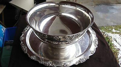 Wallace Punch Bowl, Ladle, 24 cups, silver plated