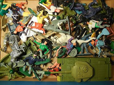 Job Lot Vintage toy soldiers AIRFIX, TIMPO, vehicle, cowboys, indian, ww2