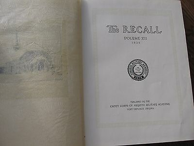 1924 Vol. 12 -THE RECALL YEARBOOK : Augusta Military Academy Ft. Defiance, VA.